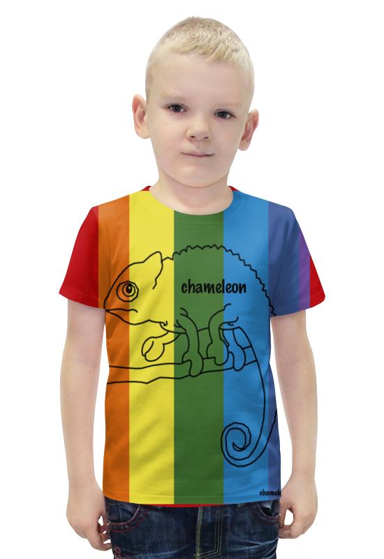 Футболка с полной запечаткой для мальчиков Printio Хамелеон, сhameleon футболка с полной запечаткой для мальчиков printio хамелеон сhameleon