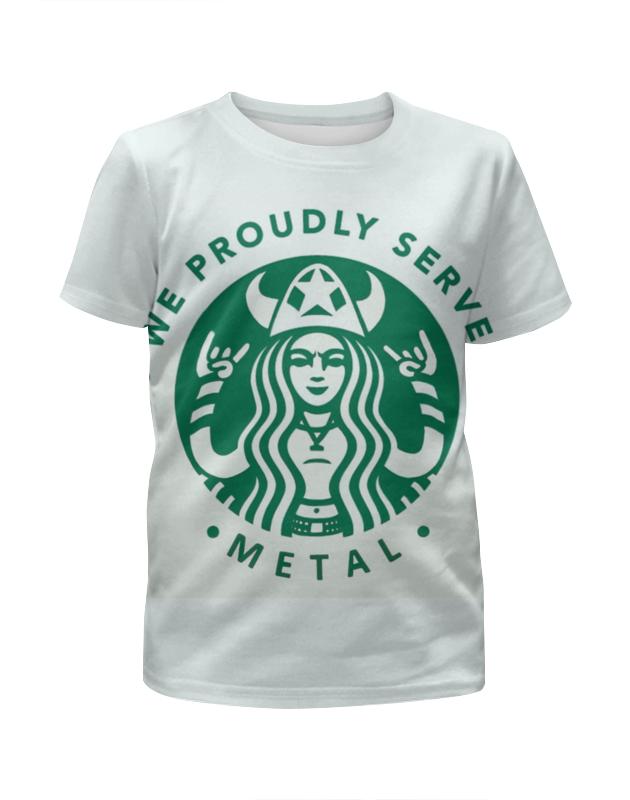Футболка с полной запечаткой для мальчиков Printio Starbucks / forever metal футболка стрэйч printio belles book cafe starbucks