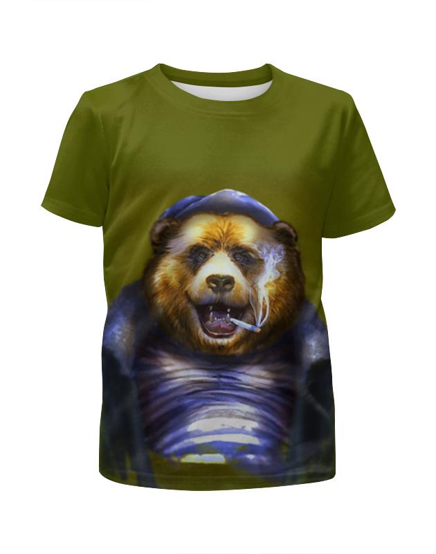 Футболка с полной запечаткой для мальчиков Printio Русский медведь футболка с полной запечаткой для мальчиков printio bats spawn arsb