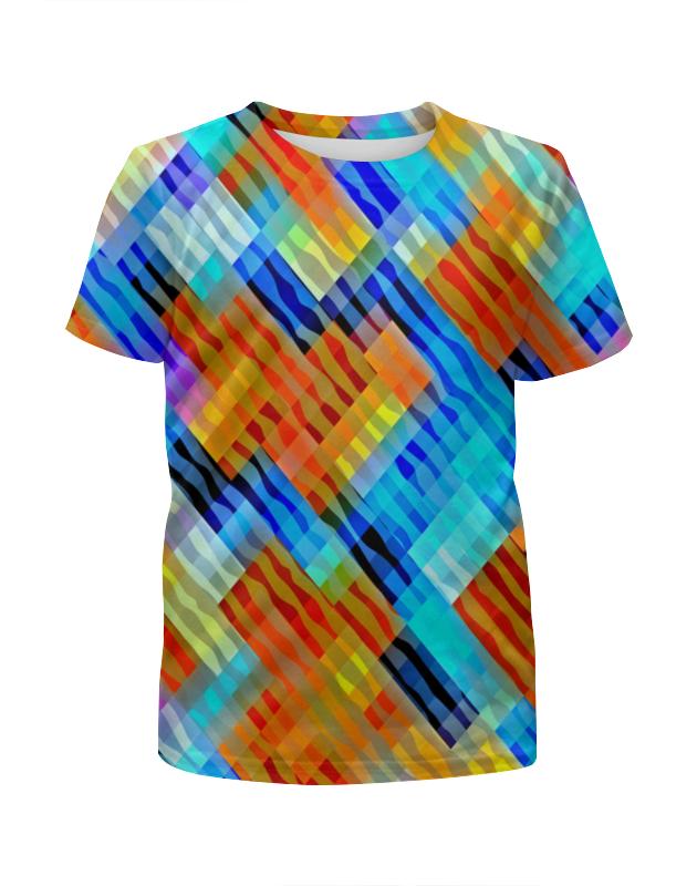 Футболка с полной запечаткой для мальчиков Printio Волнистый узор футболка с полной запечаткой для девочек printio волнистый узор