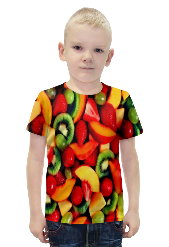 Футболка с полной запечаткой для мальчиков Printio Фрукты футболка с полной запечаткой для мальчиков printio bats spawn arsb