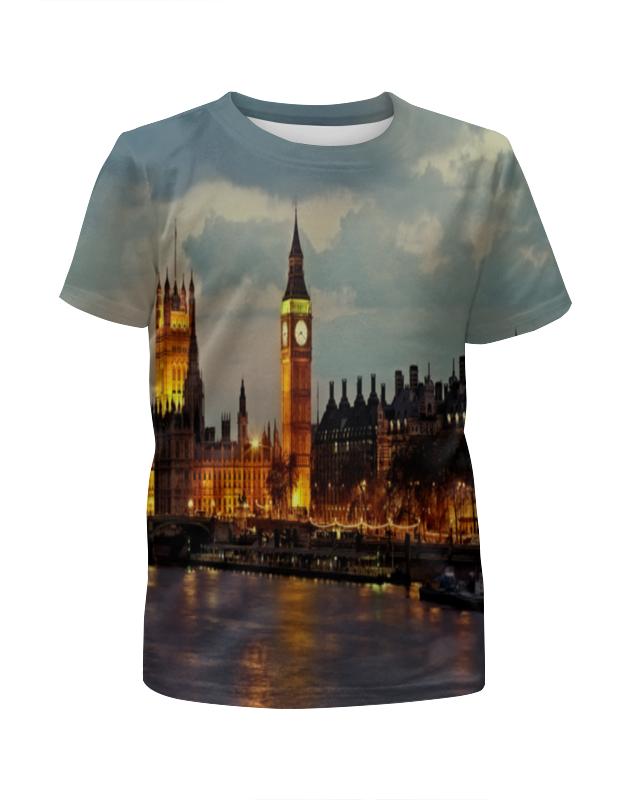 Футболка с полной запечаткой для мальчиков Printio London футболка для беременных printio london