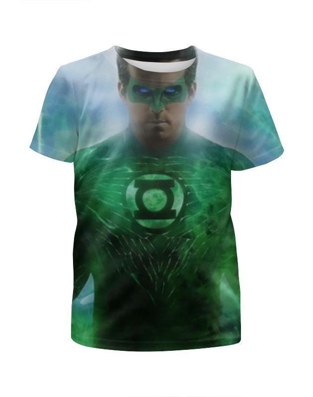 Printio Зеленый фонарь футболка с полной запечаткой для мальчиков printio яркий зеленый