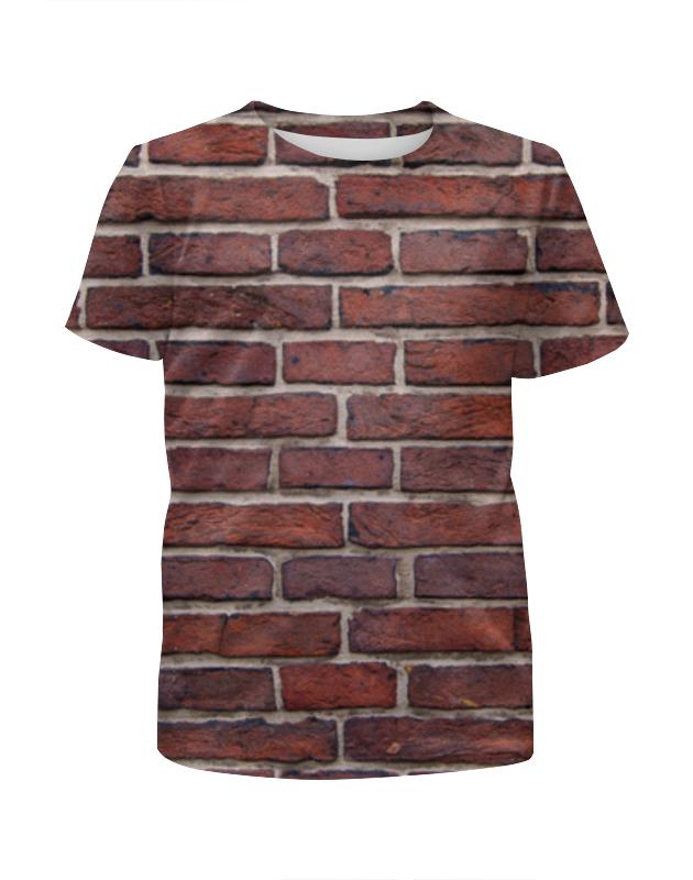 Футболка с полной запечаткой для мальчиков Printio Кирпичная кладка футболка с полной запечаткой для девочек printio кирпичная кладка