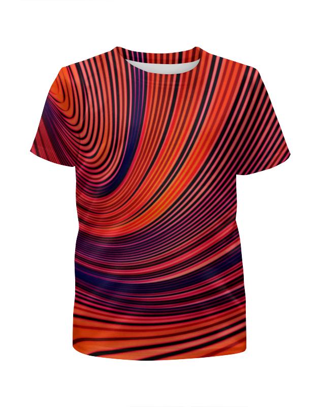 Футболка с полной запечаткой для мальчиков Printio Цветные полосы юбка в складку printio цветные полосы