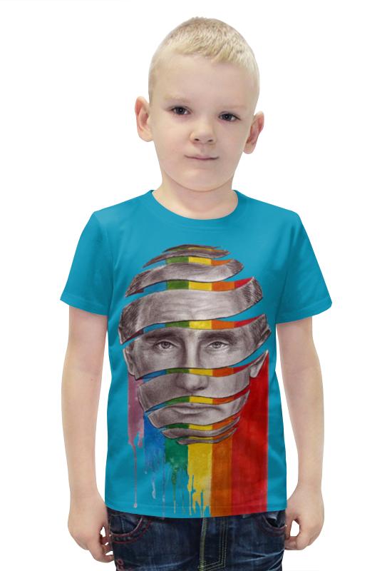 Футболка с полной запечаткой для мальчиков Printio Путин владимир владимирович