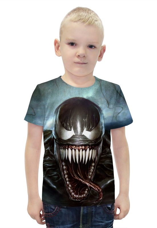 Футболка с полной запечаткой для мальчиков Printio Venom футболка с полной запечаткой для мальчиков printio bats spawn arsb