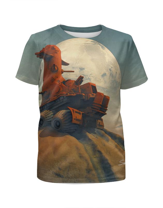 Футболка с полной запечаткой для мальчиков Printio The rover футболка с полной запечаткой мужская printio the rover