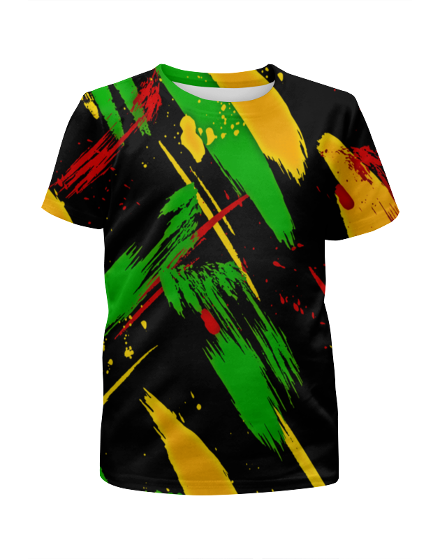Футболка с полной запечаткой для мальчиков Printio Красочные пятна футболка с полной запечаткой для мальчиков printio bats spawn arsb