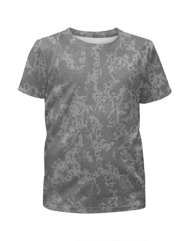 Футболка с полной запечаткой для мальчиков Printio Серый пиксельный камуфляж футболка с полной запечаткой для мальчиков printio серый пиксельный камуфляж