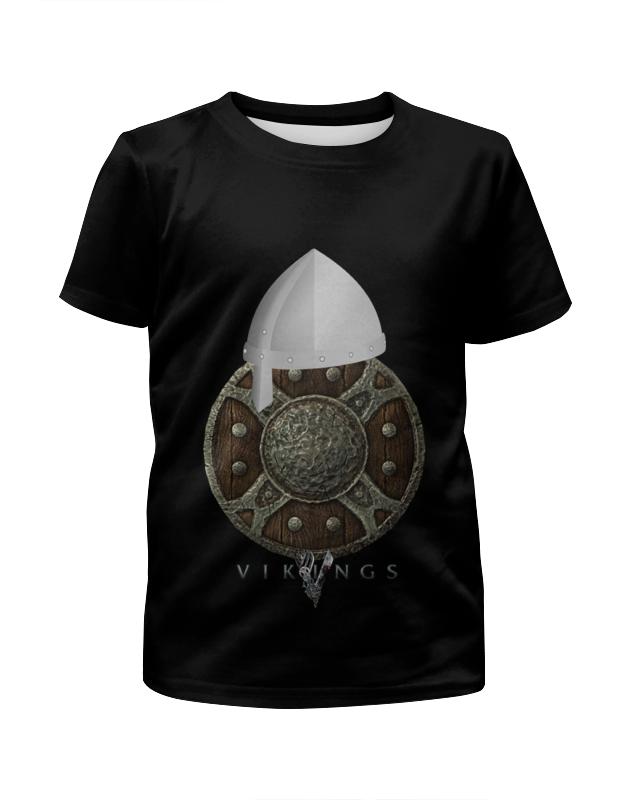 Футболка с полной запечаткой для мальчиков Printio Викинги. vikings борцовка с полной запечаткой printio викинги vikings
