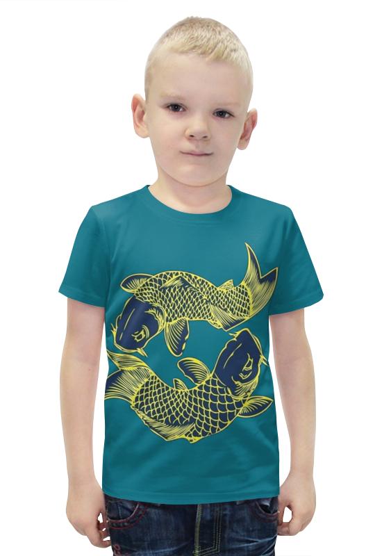 Футболка с полной запечаткой для мальчиков Printio Карасики футболка с полной запечаткой для мальчиков printio bats spawn arsb