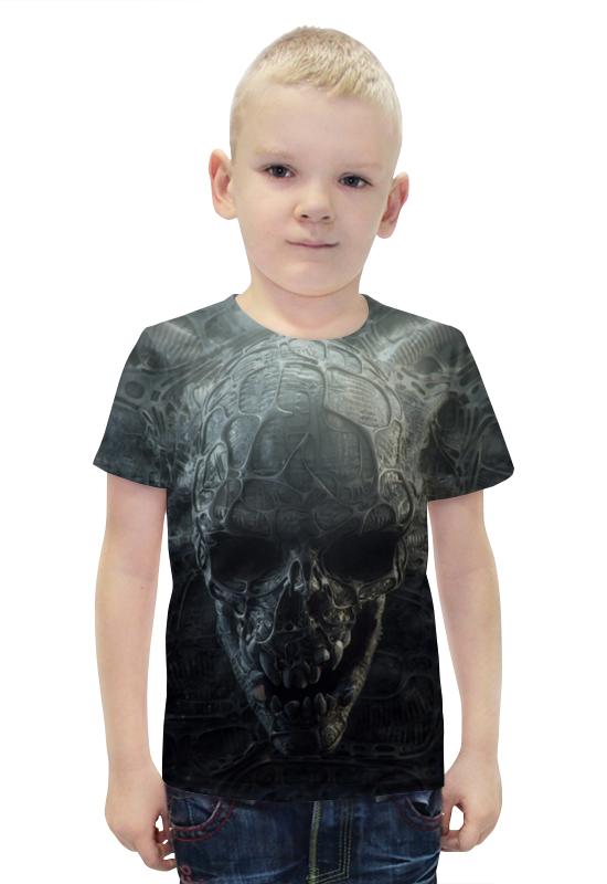 Футболка с полной запечаткой для мальчиков Printio Skull футболка с полной запечаткой для мальчиков printio bats spawn arsb