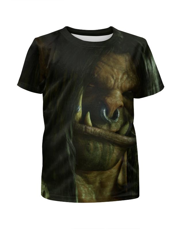 Футболка с полной запечаткой для мальчиков Printio Громмаш адский крик (варкрафт) футболка адский