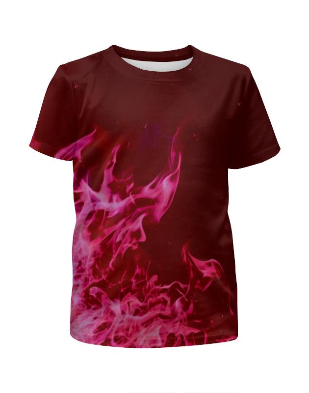Футболка с полной запечаткой для мальчиков Printio Розовый огонь футболка с полной запечаткой для девочек printio синий огонь