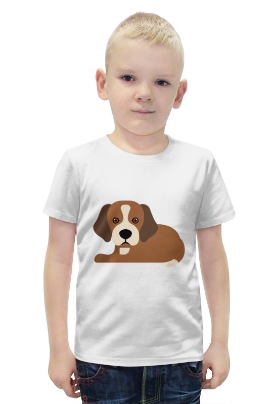 Футболка с полной запечаткой для мальчиков Printio Милый щенок футболка с полной запечаткой для девочек printio щенок