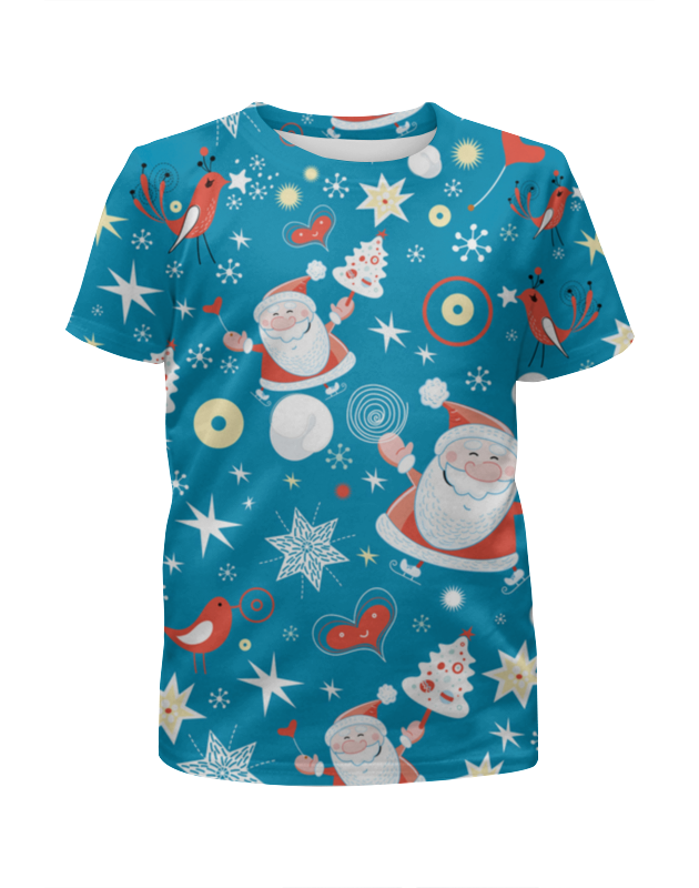Футболка с полной запечаткой для мальчиков Printio Новый год (дед мороз) футболка с полной запечаткой для мальчиков printio новый год 2016