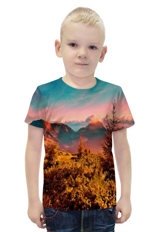 Футболка с полной запечаткой для мальчиков Printio Природа футболка с полной запечаткой для мальчиков printio bats spawn arsb