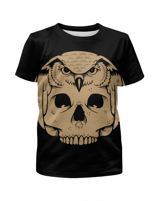 Футболка с полной запечаткой для мальчиков Printio Owl scull / сова с черепом детская футболка классическая унисекс printio owl scull сова и череп