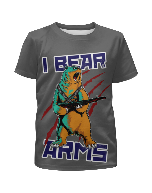 Футболка с полной запечаткой для мальчиков Printio Bear arms