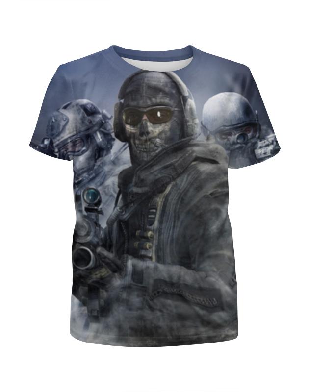 Футболка с полной запечаткой для мальчиков Printio Call of duty футболка для беременных printio череп call of duty