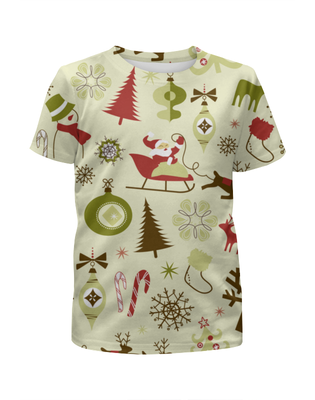 Футболка с полной запечаткой для мальчиков Printio Новогодняя футболка с полной запечаткой для мальчиков printio новогодняя