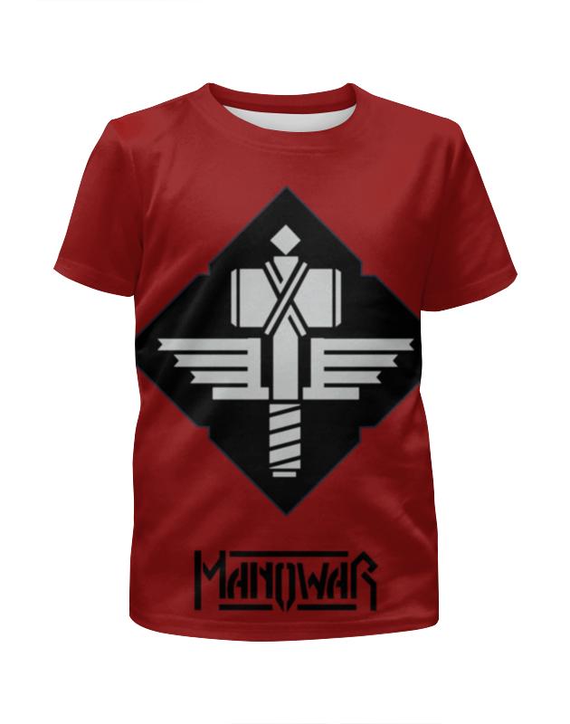 Футболка с полной запечаткой для мальчиков Printio Manowar band футболка с полной запечаткой для мальчиков printio bats spawn arsb