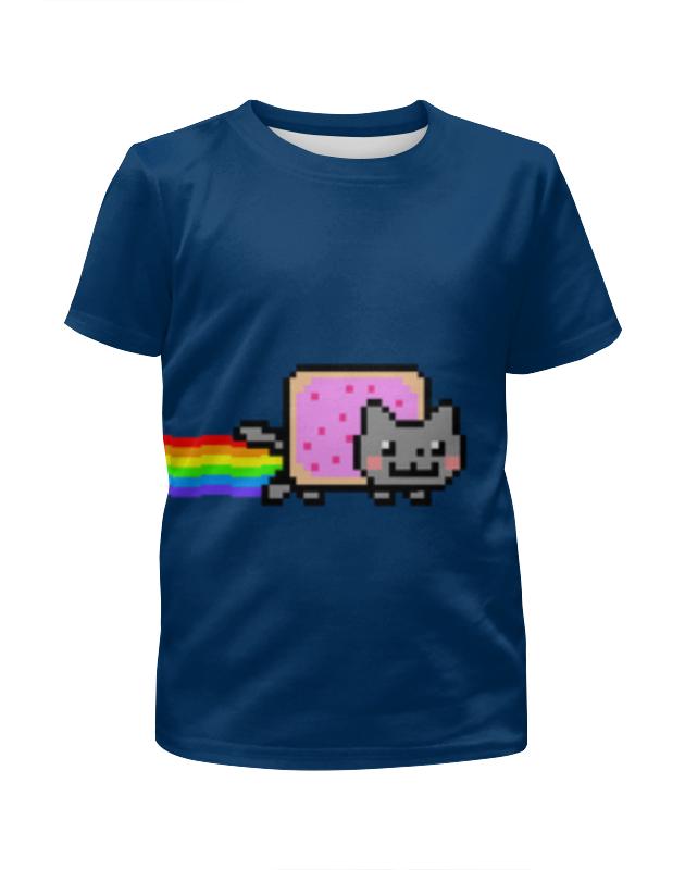 Футболка с полной запечаткой для мальчиков Printio Nyan cat