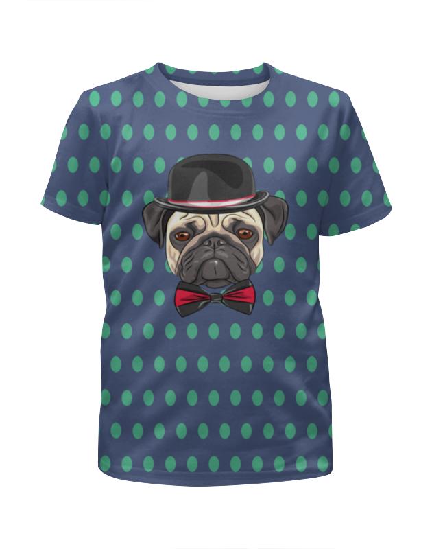 Футболка с полной запечаткой для мальчиков Printio Пес в шляпе футболка с полной запечаткой для мальчиков printio pin claus chimney собака пес