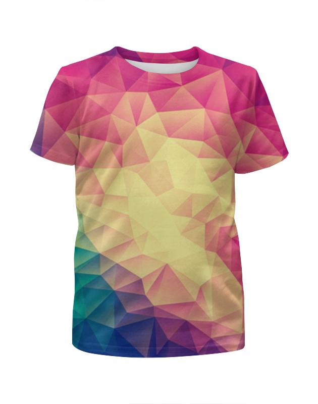 Футболка с полной запечаткой для мальчиков Printio Яркая геометрия футболка с полной запечаткой для мальчиков printio акварельная геометрия