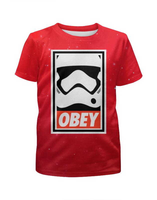 Футболка с полной запечаткой для мальчиков Printio Obey satrwars футболка с полной запечаткой для мальчиков printio bats spawn arsb