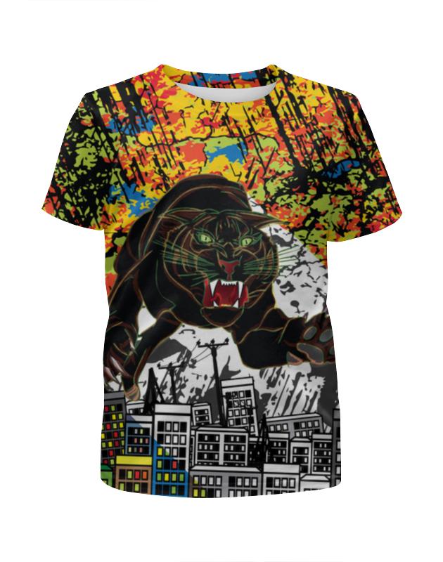 Футболка с полной запечаткой для мальчиков Printio Черный тигр футболка с полной запечаткой для мальчиков printio охрана тигр