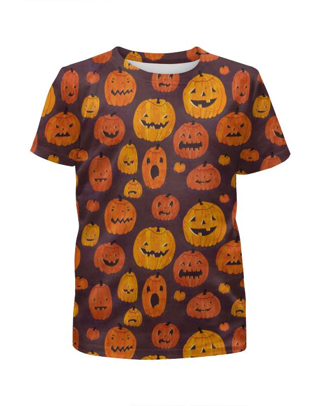 Футболка с полной запечаткой для мальчиков Printio Halloween halloween night oil painting square linen decorative throw pillow case kawaii cushion cover