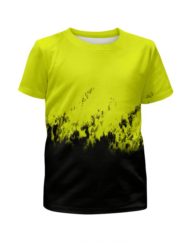 Printio Желто-черные краски футболка с полной запечаткой для мальчиков printio желто синие краски