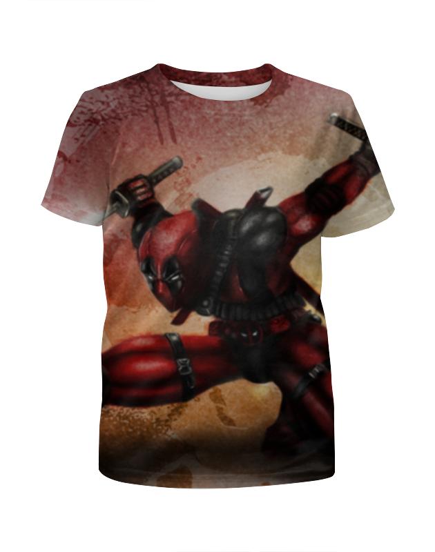Футболка с полной запечаткой для мальчиков Printio Deadpool футболка с полной запечаткой для мальчиков printio deadpool when in rome
