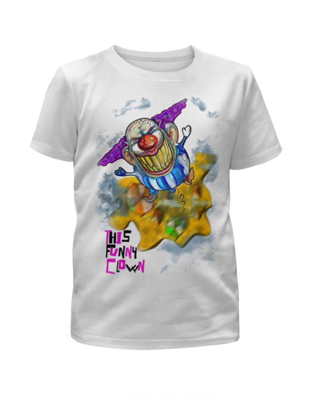 Футболка с полной запечаткой для мальчиков Printio Смешной клоун цена и фото