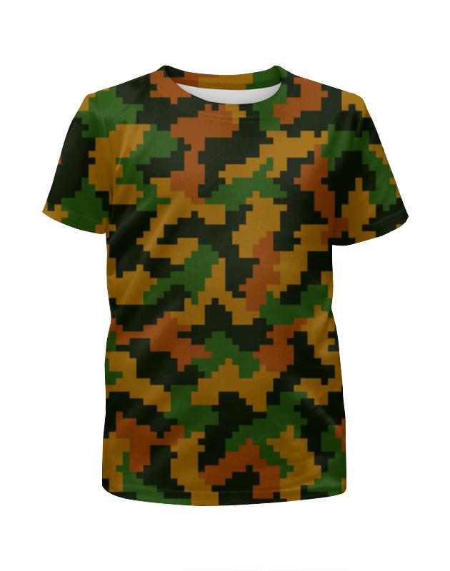Футболка с полной запечаткой для мальчиков Printio Камуфляж лето футболка с полной запечаткой для мальчиков printio bats spawn arsb