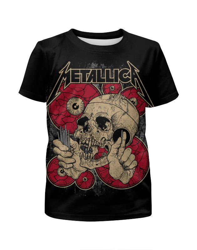 Футболка с полной запечаткой для мальчиков Printio Metallica футболка с полной запечаткой для мальчиков printio braaaaatnsssss