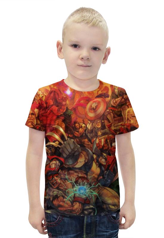 Футболка с полной запечаткой для мальчиков Printio Marvel art футболка с полной запечаткой для мальчиков printio heros marvel arsb