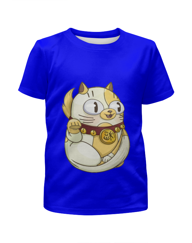 Футболка с полной запечаткой для мальчиков Printio Милый котик футболка для беременных printio милый котик
