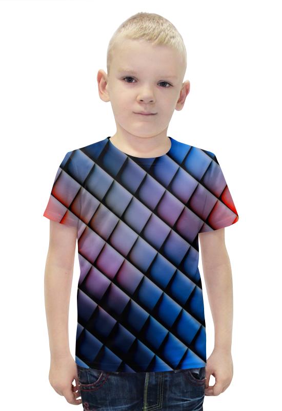 Футболка с полной запечаткой для мальчиков Printio Квадраты футболка с полной запечаткой для мальчиков printio bats spawn arsb