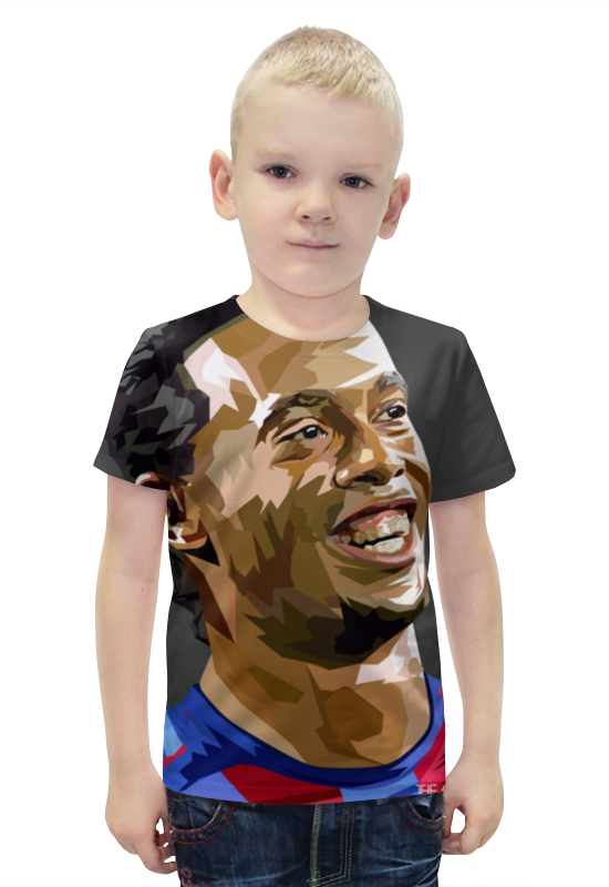 Футболка с полной запечаткой для мальчиков Printio Роналдиньо футболка с полной запечаткой для мальчиков printio bats spawn arsb