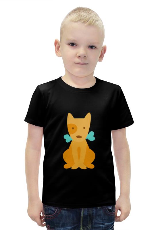 Футболка с полной запечаткой для мальчиков Printio Щенок с косточкой футболка с полной запечаткой для девочек printio щенок