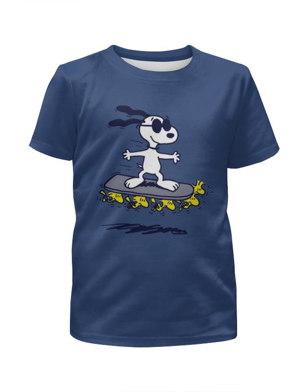Футболка с полной запечаткой для мальчиков Printio Снупи на скейтборде футболка с полной запечаткой для мальчиков printio на отдых