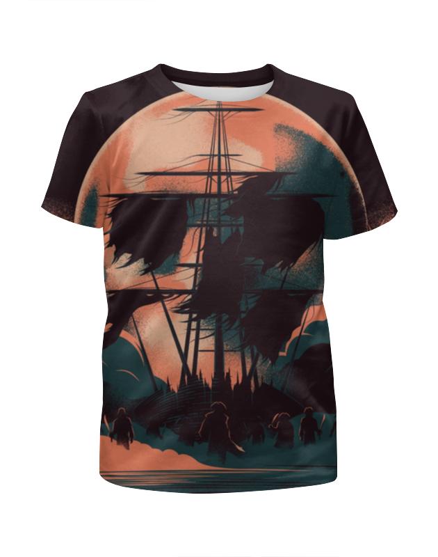 Футболка с полной запечаткой для мальчиков Printio Пираты карибского моря / pirates of the caribbean футболка с полной запечаткой для мальчиков printio the pattern of lines