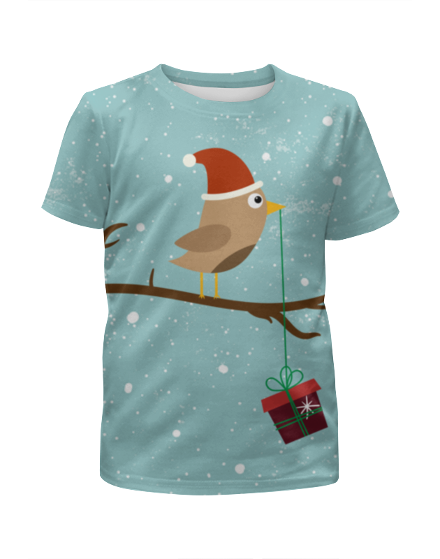 Футболка с полной запечаткой для мальчиков Printio Подарочек футболка с полной запечаткой для девочек printio птички