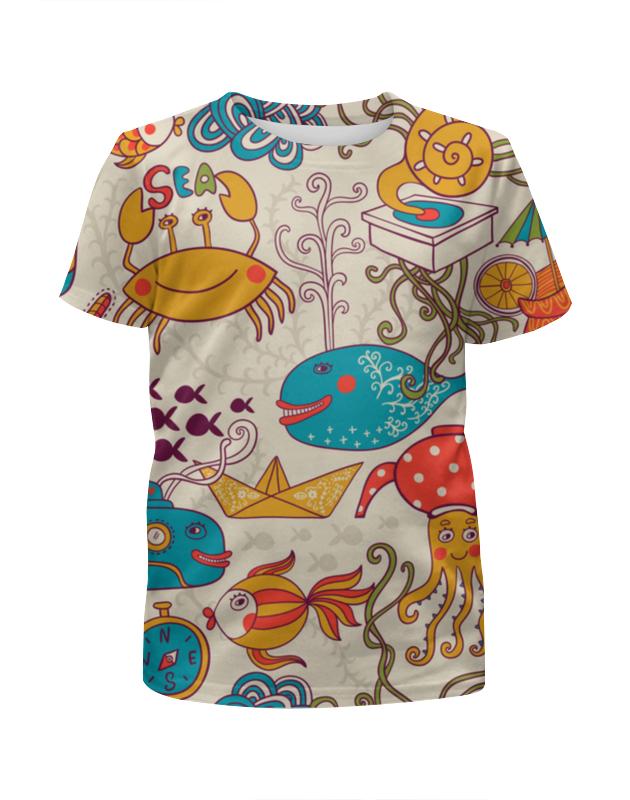 Футболка с полной запечаткой для мальчиков Printio Морские обитатели футболка с полной запечаткой для мальчиков printio морские глубины