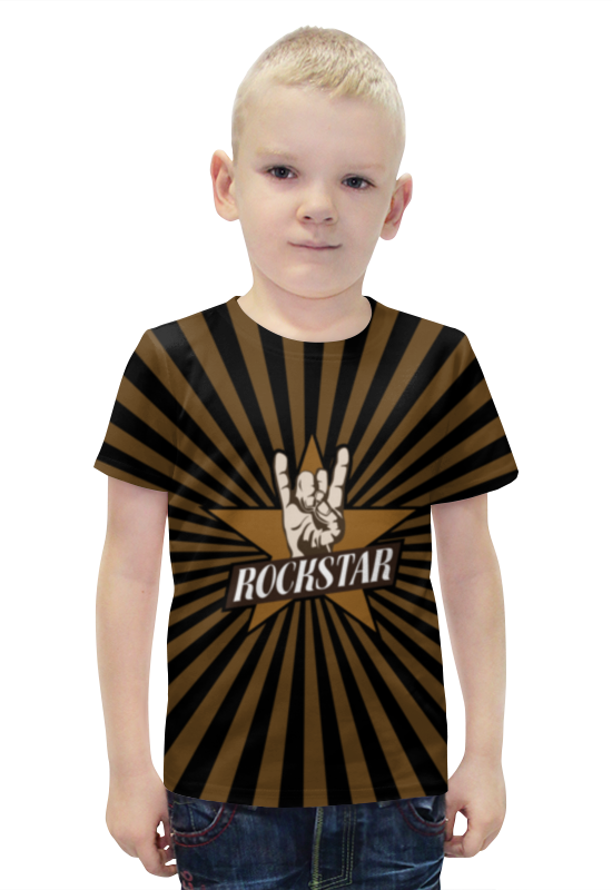 Футболка с полной запечаткой для мальчиков Printio Rockstar футболка с полной запечаткой для мальчиков printio bats spawn arsb
