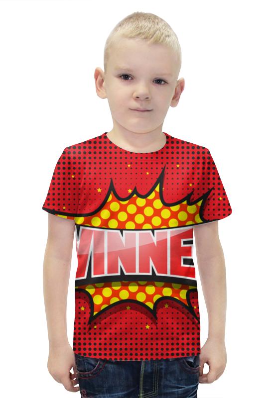 Футболка с полной запечаткой для мальчиков Printio Winner футболка с полной запечаткой для мальчиков printio bats spawn arsb