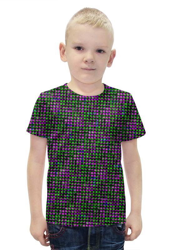 Футболка с полной запечаткой для мальчиков Printio Glitch art (матрица) glitch